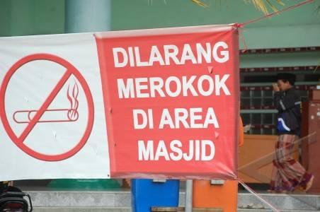 Fasilitas Beribadah Dilarang Merokok