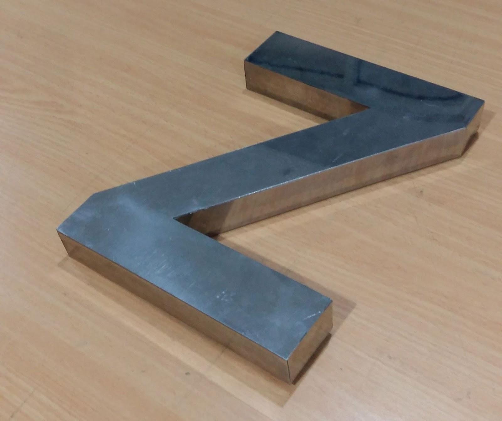 Cara Membuat Huruf Timbul Stainless Steel