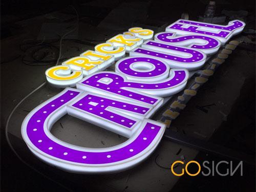 Jasa Pembuatan Neon Box Huruf Timbul